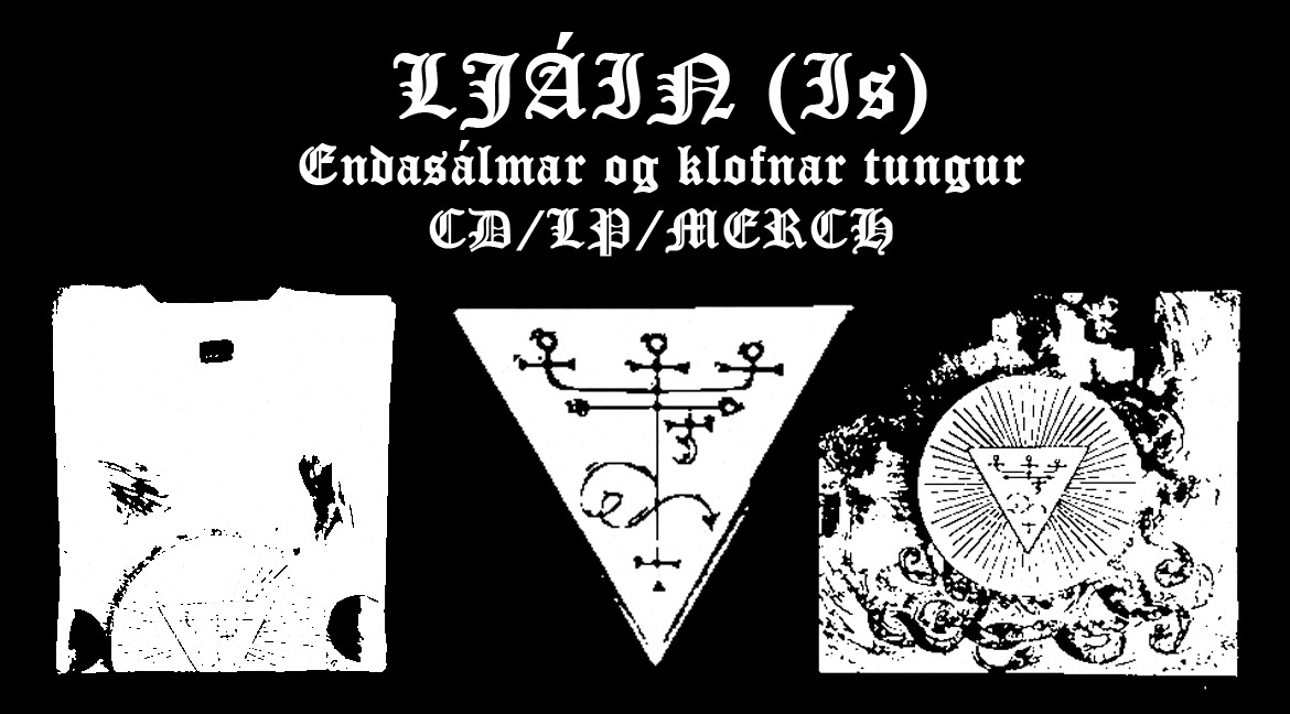 LJÁIN (Is) - Endasálmar og klofnar tungur - CD/LP/MERCH